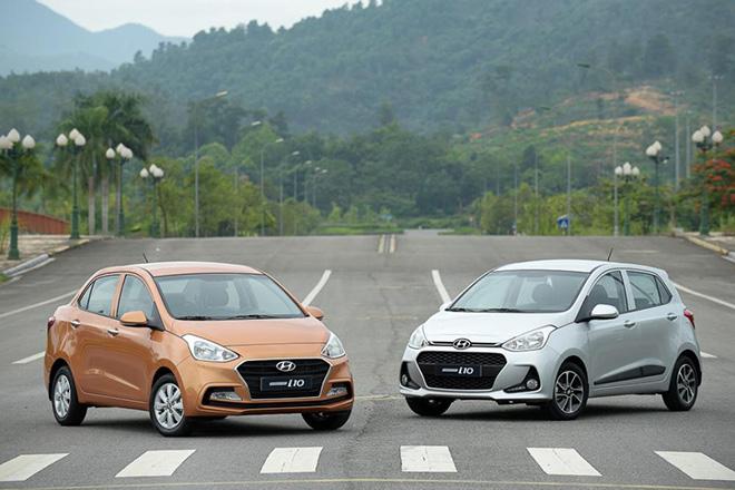Hyundai i10 phân phối tại Việt nam với 2 phiên bản Hatchback và Sedan